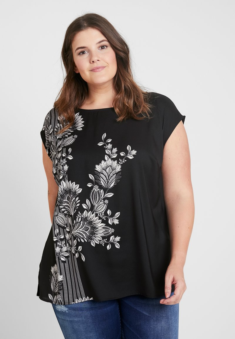 Vince Camuto Plus - EXTEND ORNATE MELODY MIXMEDIA - Blouse - rich black