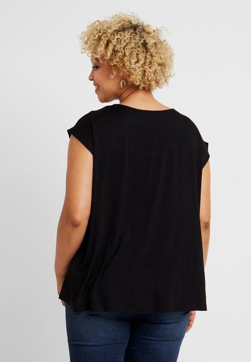 Vince Camuto Plus EXTEND BACK - Bluzka - rich black Koszulki i Topy VLHR-DR3 trwałe modelowanie