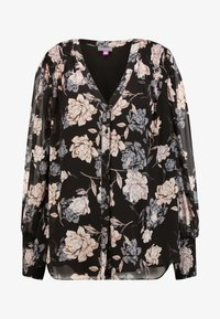 Vince Camuto Plus - SMOCKED CUFF ENCHANTED FLO - Blouse - rich black - 4