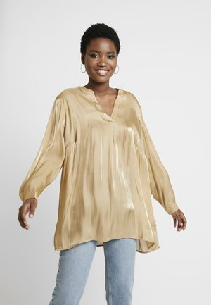 IRIDESCENT TUNI - Blouse - latte