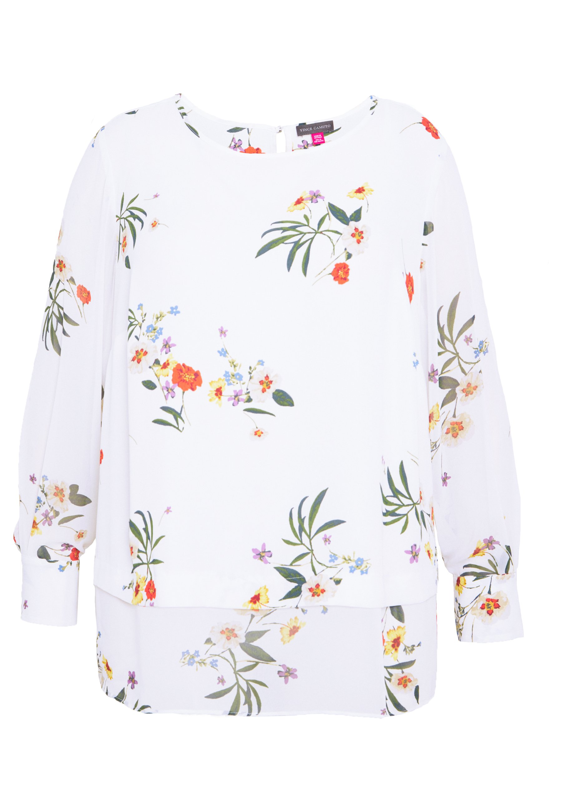 Vince Camuto Plus SURREAL GARDEN MIX - Blouse - pearl ivory uIpUt