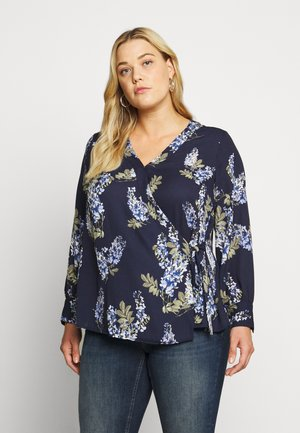WEEPING WILLOWS SIDE TIE WRAP - Blusa - dark blue