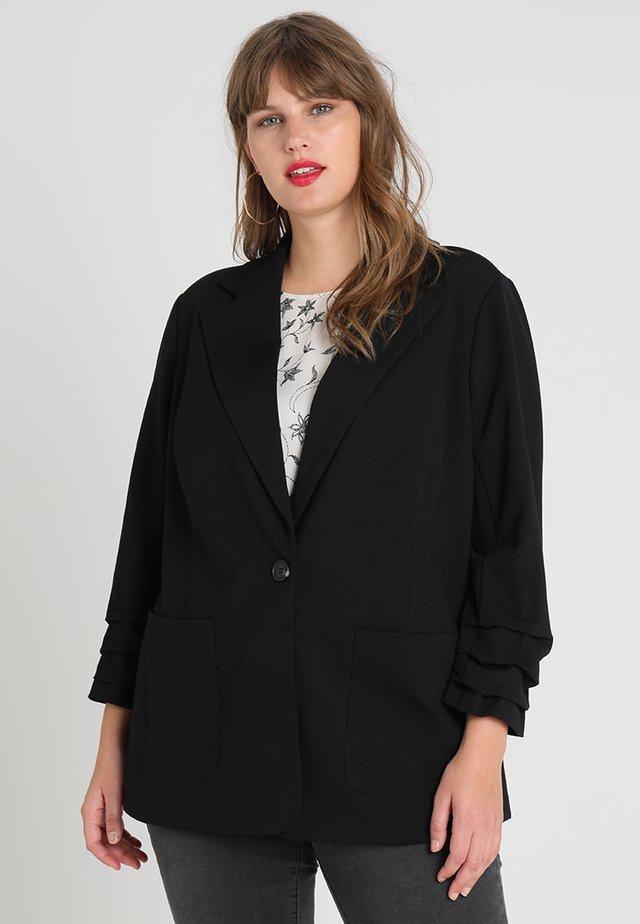 RUCHED PONTE  - Blazer - rich black
