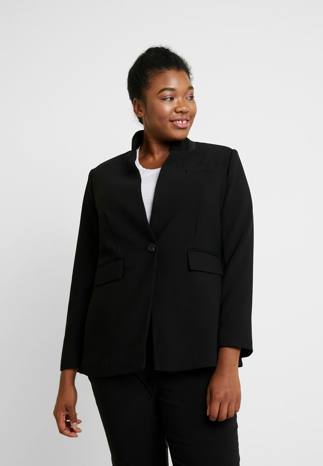 STAND COLLAR  - Blazer - rich black
