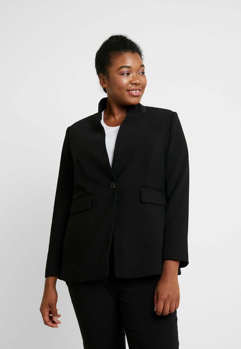 Vince Camuto Plus - STAND COLLAR  - Blazer - rich black