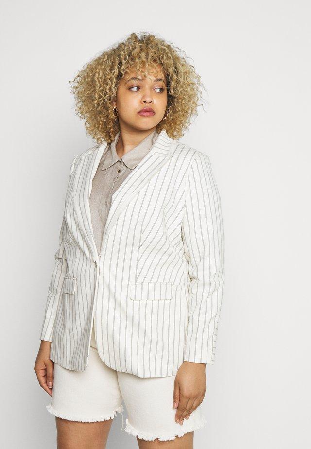 STRIPE FRINGE TRIM - Short coat - white