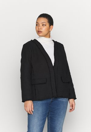 TWEED KISS FRONT JACKET - Blazer - black