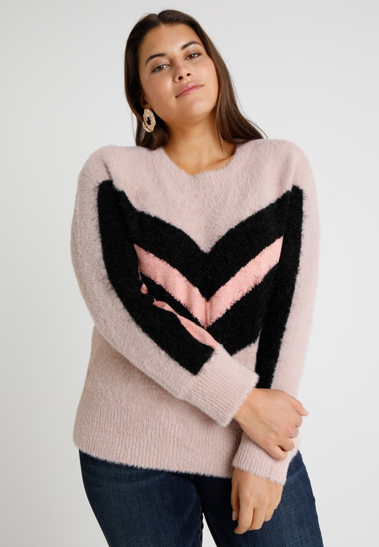 Vince Camuto Plus - CREWNECK - Strickpullover - rose buff