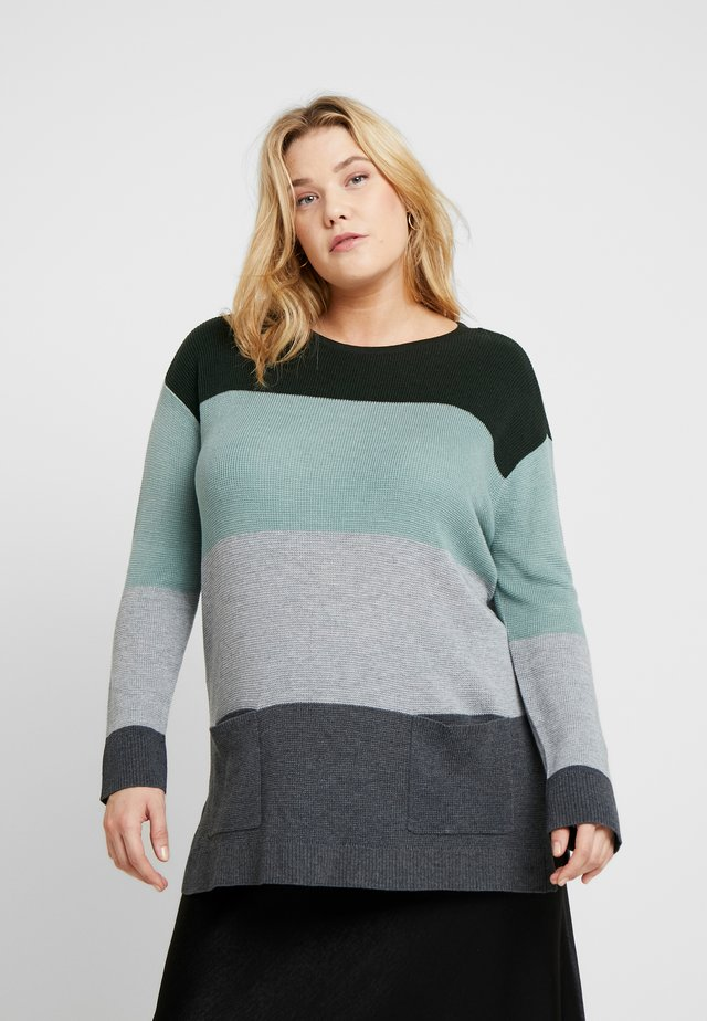 WAFFLE STITCH COLORBLOCK - Strickpullover - willow
