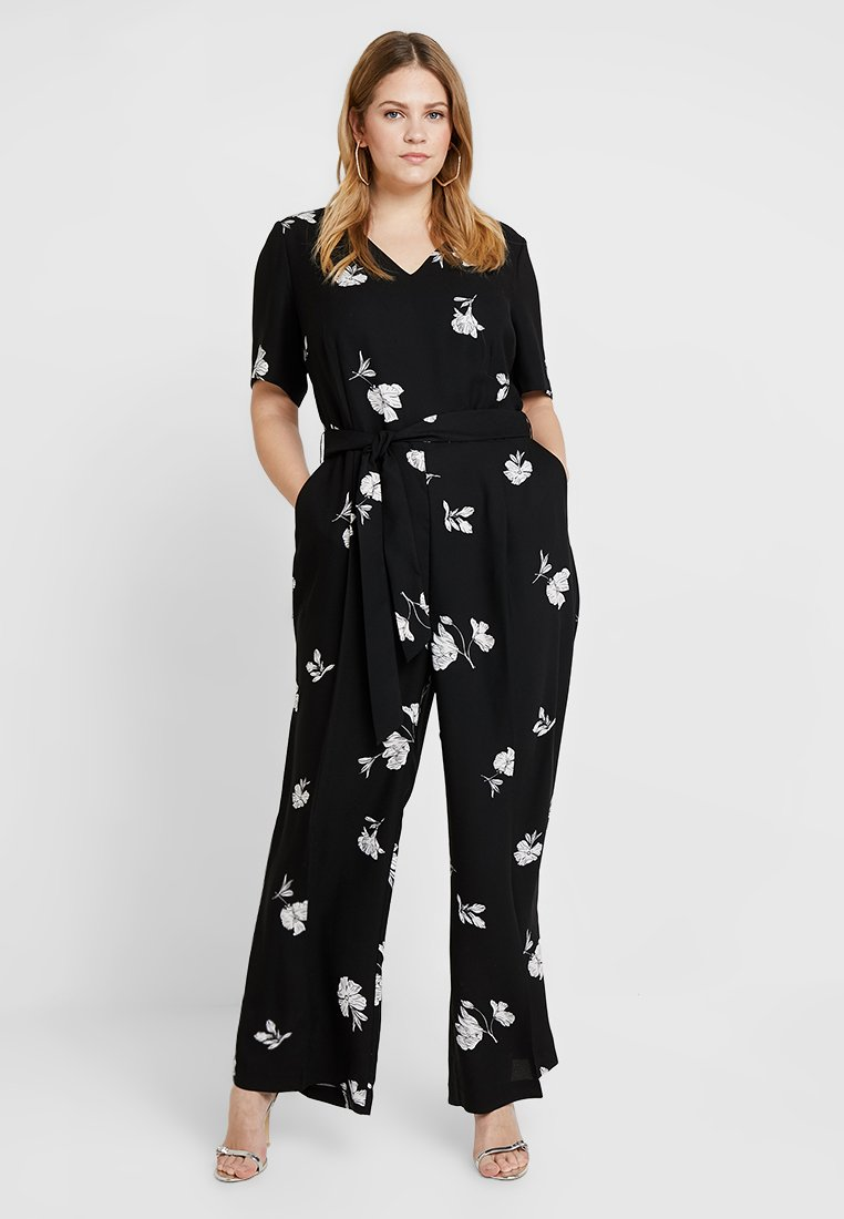 Vince Camuto Plus - TOSSED FLOWERS - Overal - rich black
