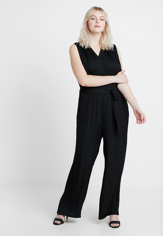 RUMPLE BELTED - Jumpsuit - rich black