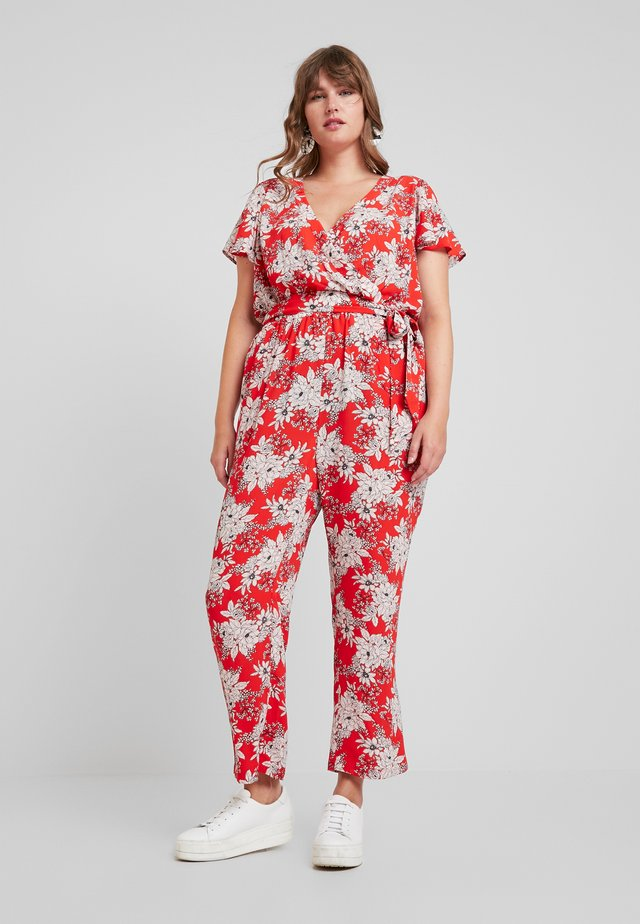 BOUDOIR BOTANICAL BELTED - Overall / Jumpsuit - crimson red