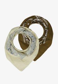 Vintage Supply - BANDANA 2 PACK - Foulard - beige/brown - 0
