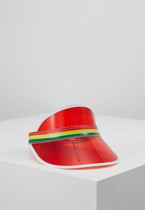 CLEAR PERSPEX VISOR - Casquette - red