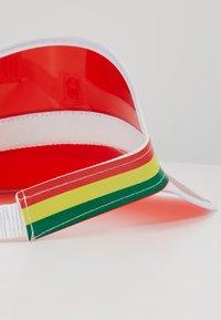 Vintage Supply - CLEAR PERSPEX VISOR - Cap - red - 6