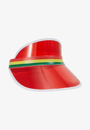 CLEAR PERSPEX VISOR - Gorra - red