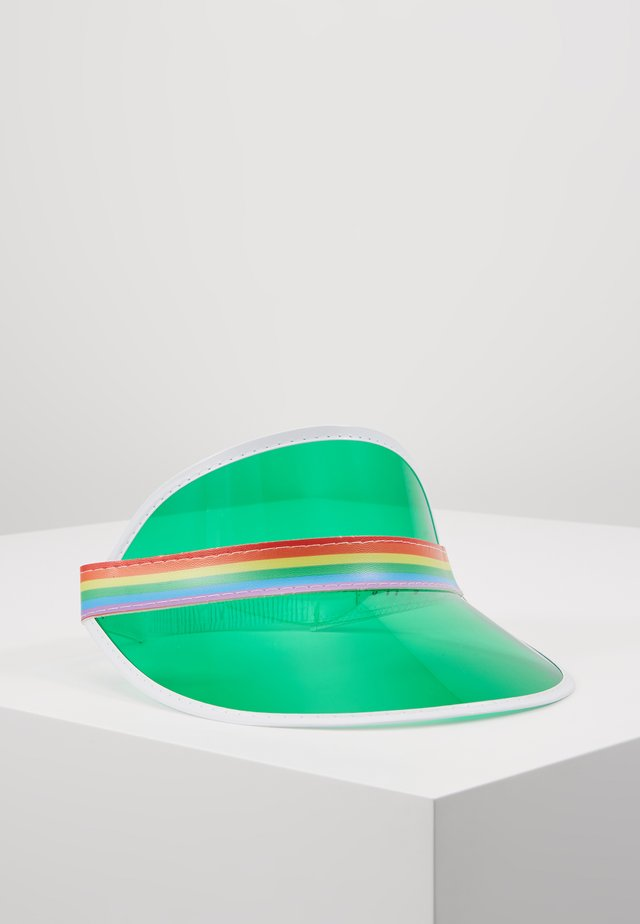 CLEAR PERSPEX VISOR - Cap - green