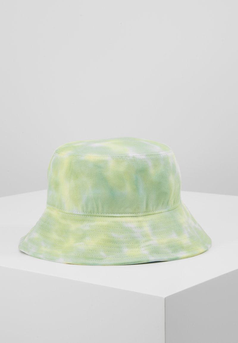 Vintage Supply - BUCKET HAT - Hatt - neon yellow/white/light green combo