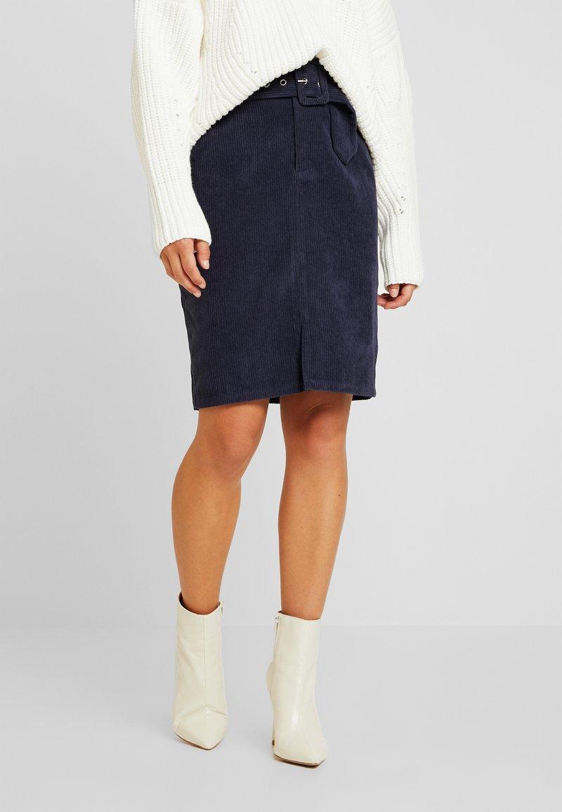 VILA PETITE - VIZEE  SKIRT - Pouzdrová sukně - navy blazer