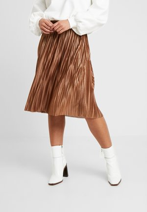 VIKAJSA MIDI SKIRT - Plooirok - toffee/copper