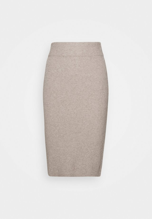 VIRIL PENCIL SKIRT - A-lijn rok - simply taupe melange