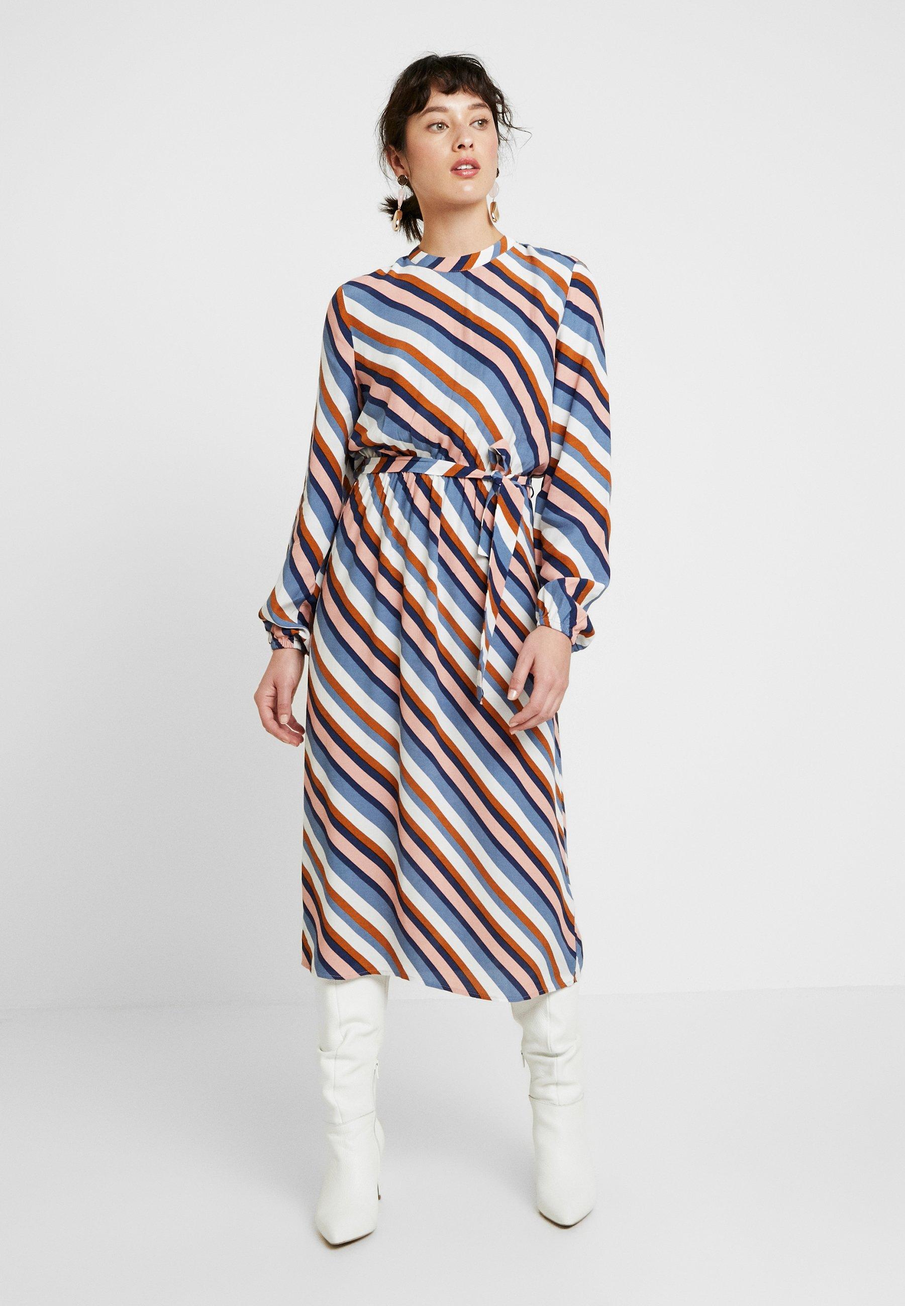 VILA PETITE VIANSEL MIDI DRESS - Sukienka letnia - cloud dancer/multi