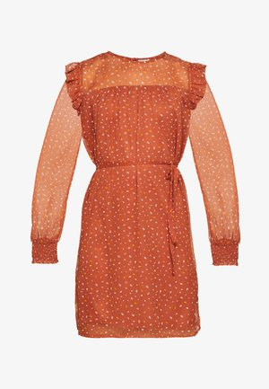 VIUTA SHORT DRESS - Robe d'été - copper brown