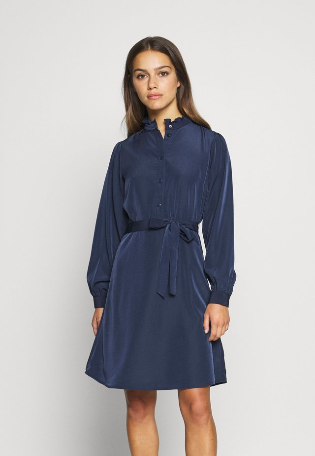 VISIMPLE DRESS - Shirt dress - navy blazer