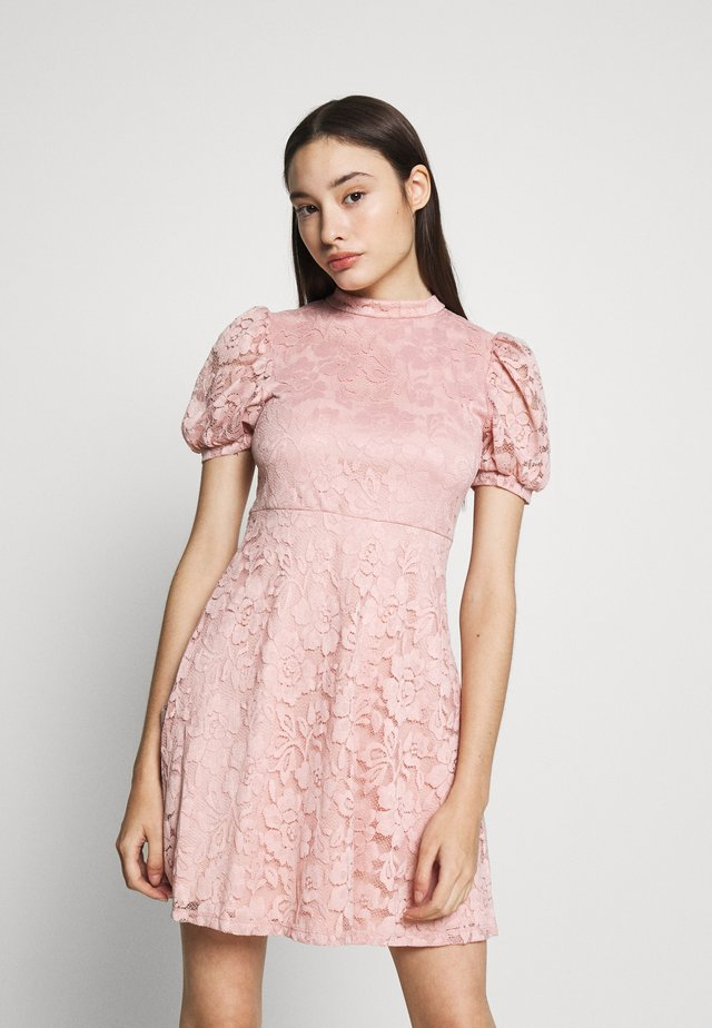 VILILJA PUFF SLEEVE DRESS - Korte jurk - pale mauve