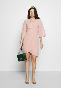 VILA PETITE - VIMICADA SLEEVE DRESS - Cocktail dress / Party dress - pale mauve