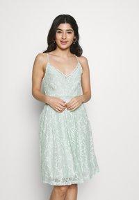 VILA PETITE - VICYRENA DRESS PETITE - Cocktail dress / Party dress - cameo green - 0