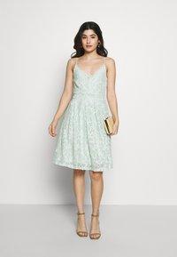 VILA PETITE - VICYRENA DRESS PETITE - Cocktail dress / Party dress - cameo green - 1