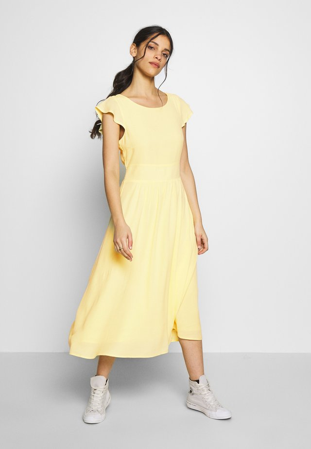 VIMARITA MIDI DRESS - Korte jurk - mellow yellow