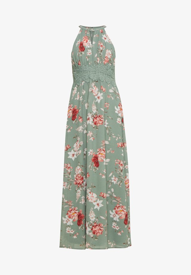 VIMILINA FLOWER DRESS PETIT - Maxi-jurk - green milieu