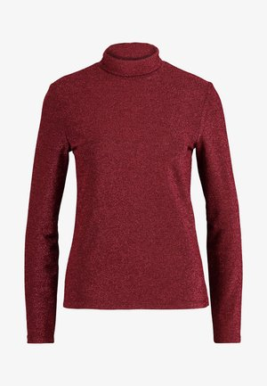 VIGLAMY ROLLNECK - Top s dlouhým rukávem - black/raspberry/tawny port