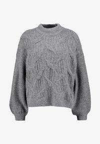 VILA PETITE - VISEVEN - Strickpullover - medium grey melange - 4