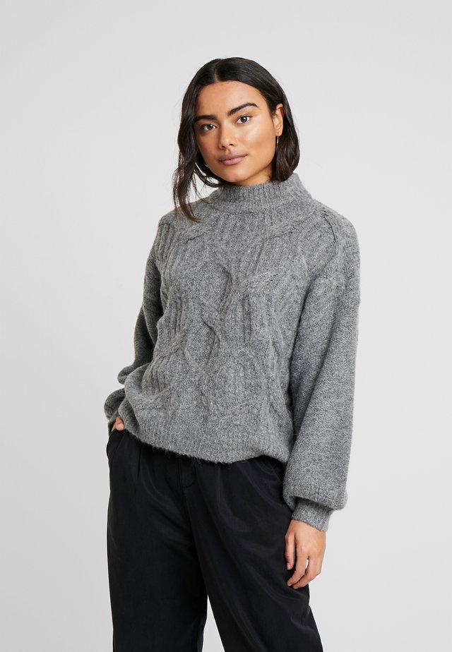 VISEVEN - Stickad tröja - medium grey melange