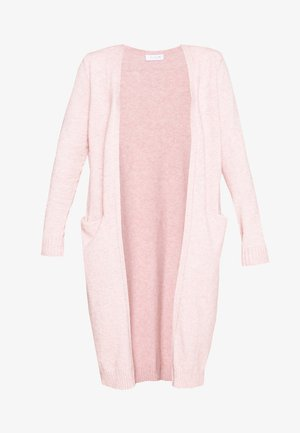 VIRIL LONG KNIT CARDIGAN PETITE - Jumper - pale mauve/melange