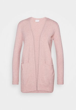VIRIL OPEN CARDIGAN - Chaqueta de punto - misty rose melange