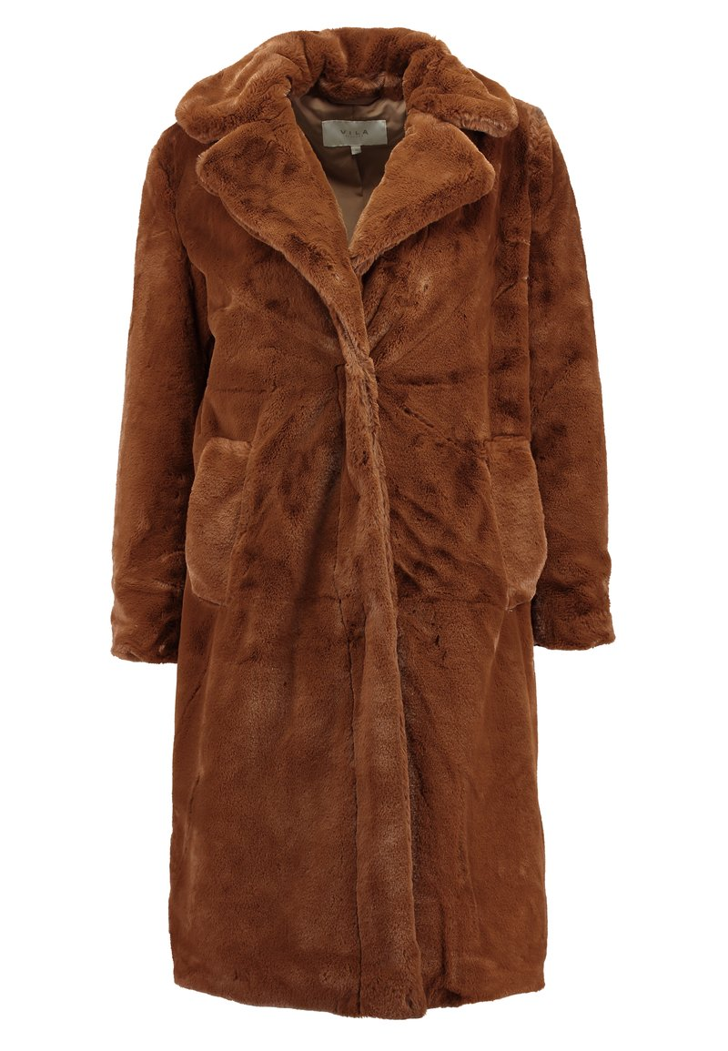 VILA PETITE - VIKODA COAT - Zimní kabát - toffee