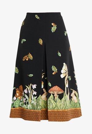 Áčková sukně - stampa fondo nero