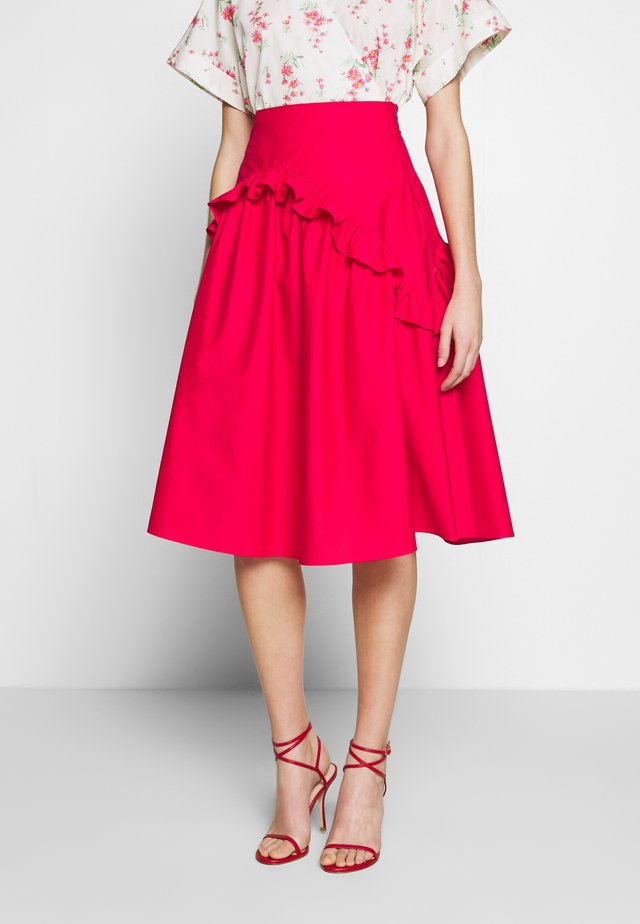 SKIRT - A-linjekjol - red