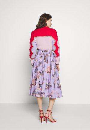 SKIRT - Áčková sukně - fantasia fondo lilla
