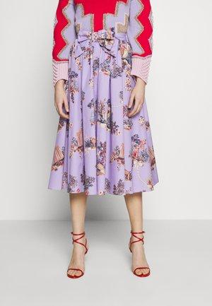 SKIRT - A-line skirt - fantasia fondo lilla