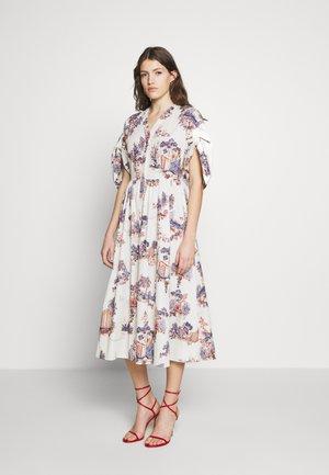 DRESS - Shirt dress - fantasia fondo panna