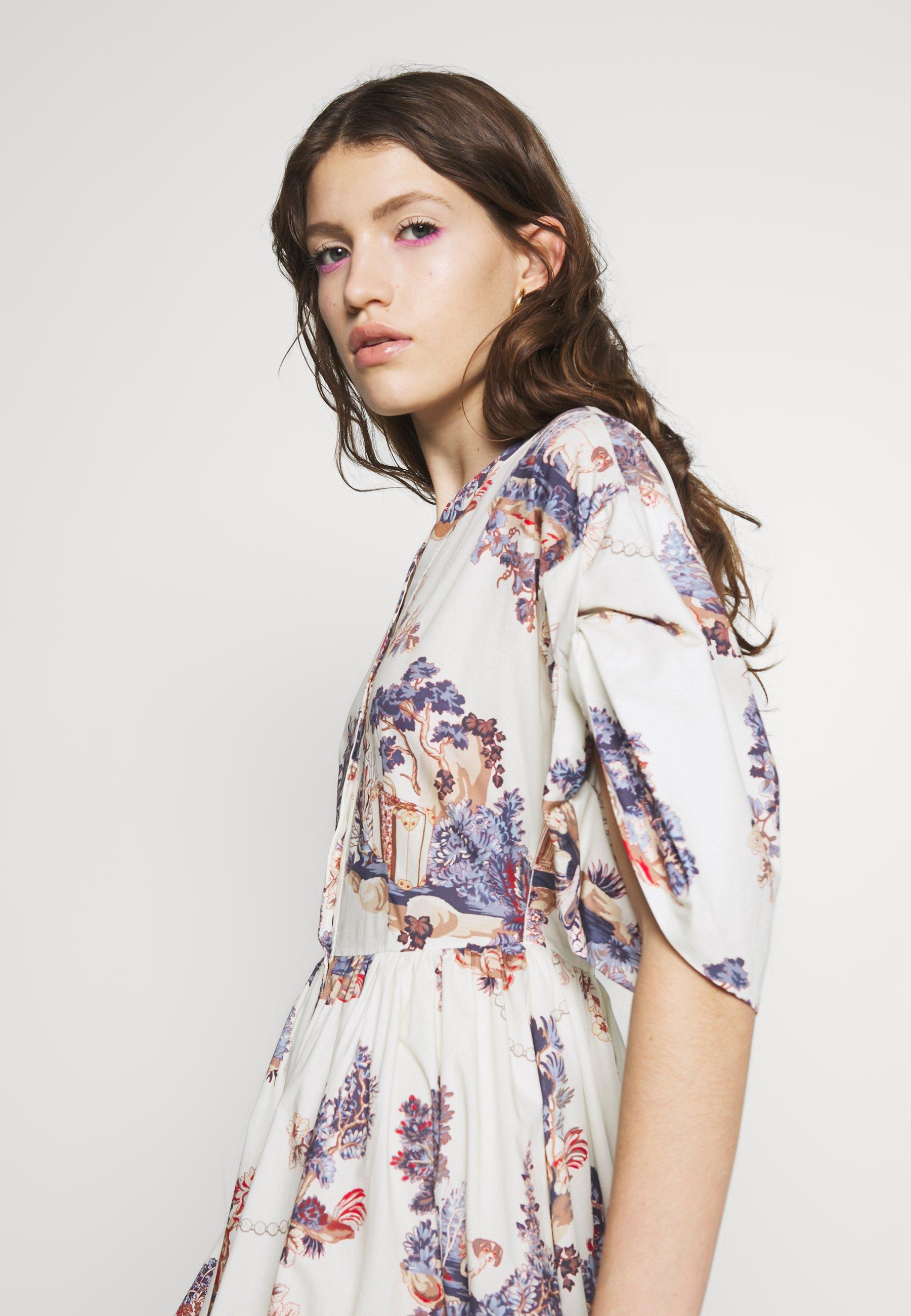 Vivetta Dress - Shirt Fantasia Fondo Panna UK