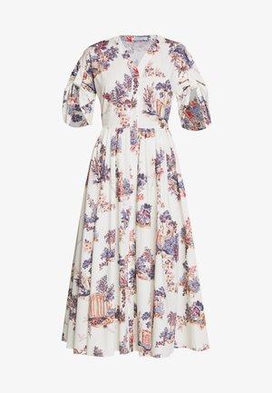 DRESS - Abito a camicia - fantasia fondo panna