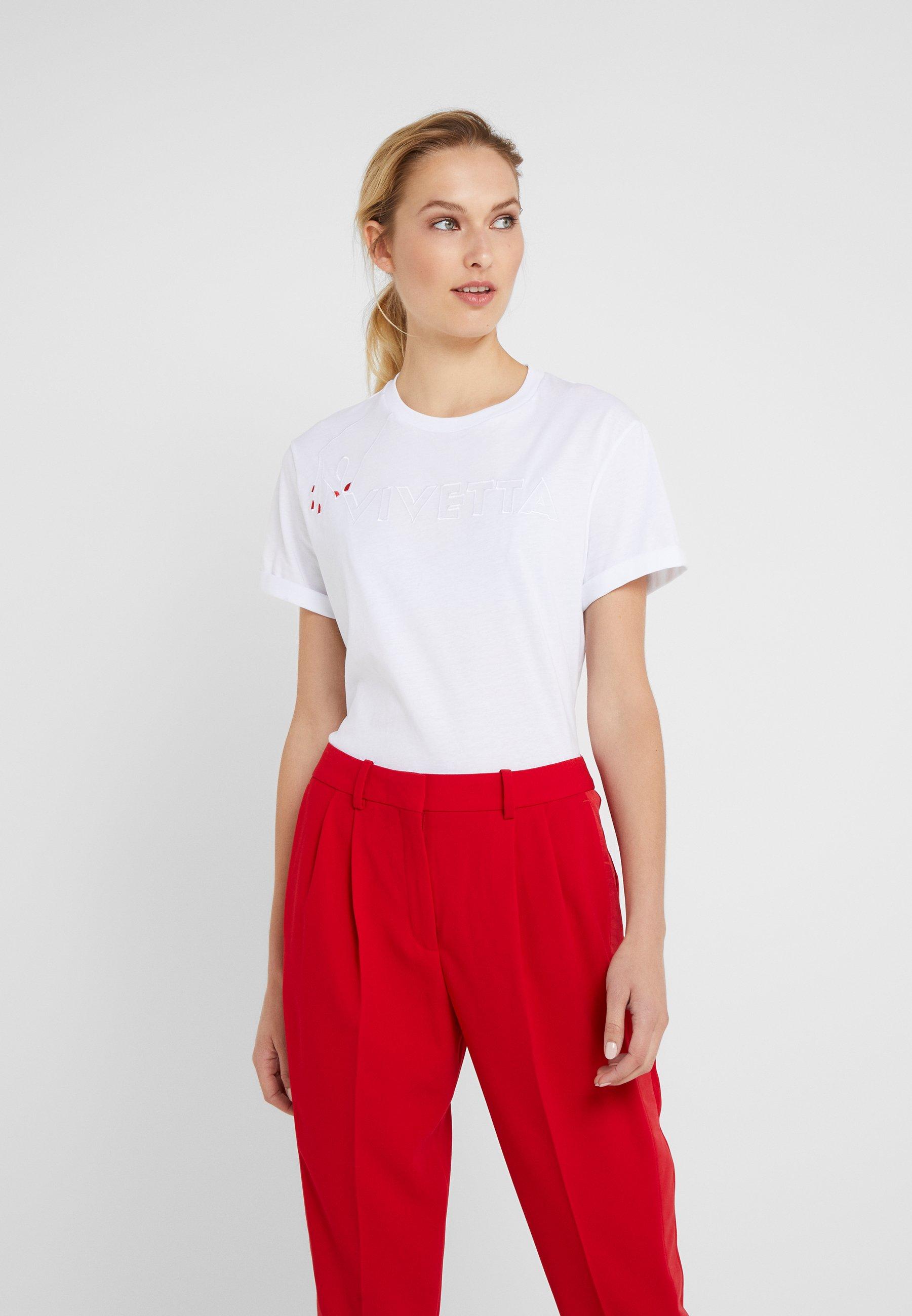 Vivetta T-shirt z nadrukiem - white