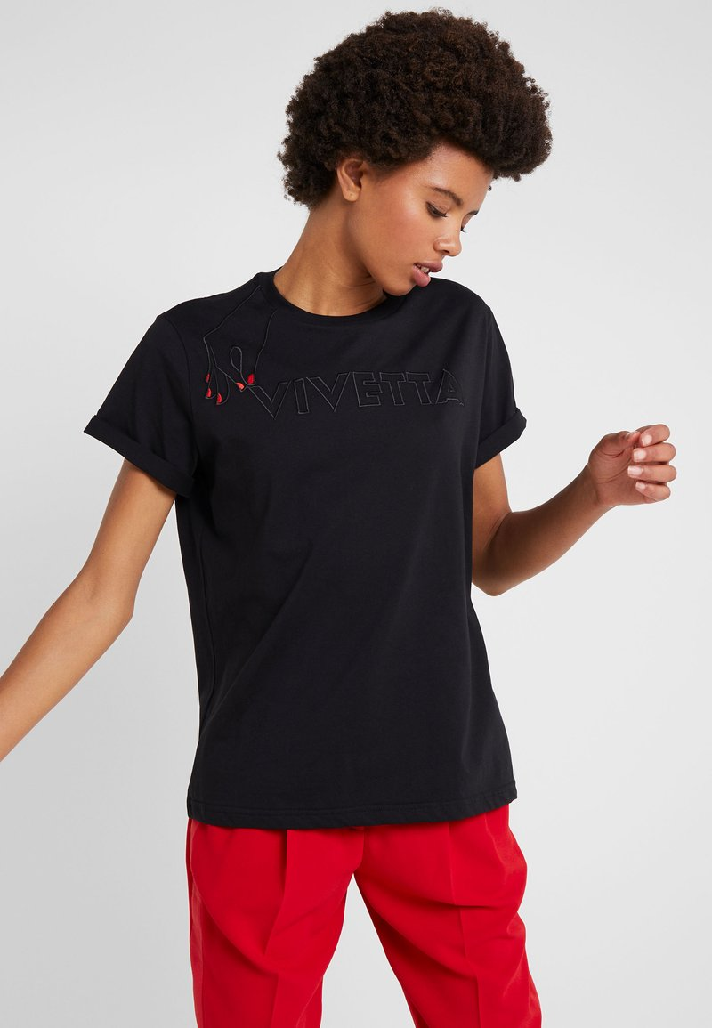 Black T Vivetta Vivetta T Imprimé shirt 8nkOX0wPN