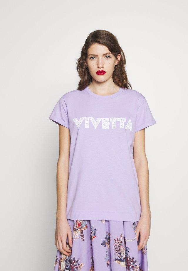 Print T-shirt - lilla